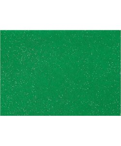 Hobbyvilt A4 dikte 1mm groen glitter