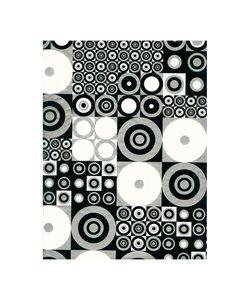 Vel Decopatch papier Patroon cirkels zwart/zilver