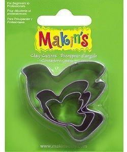 Makin's Clay Uitsteekvorm Set Duif 3st