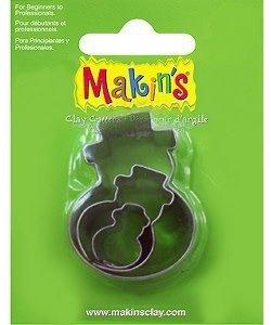 Makin's Clay Uitsteekvorm Set Sneeuwpop 3st