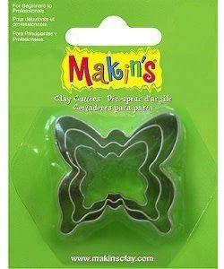 Makin's Clay Uitsteekvorm Set Vlinder 3st