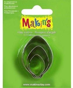 Makin's Clay Uitsteekvorm Set Bulb ornament  2-4cm 3st