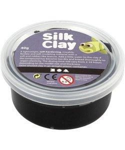Silk Clay Zwart 40g