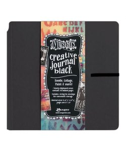 Ranger Dylusions Creative Journal Black 8x8''