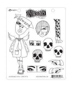 Dylusions stamp dependable dotty