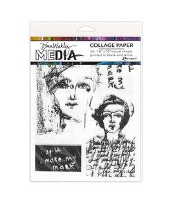 Ranger Dina Wakley Media Collage Paper Vintage