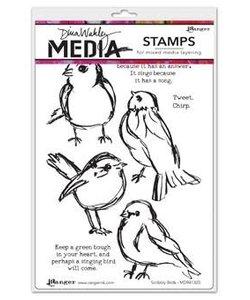 Ranger Dina Wakley Media Stempel Scribbly Bird