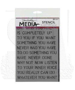 Ranger Dina Wakley Media Stencil Affirmation