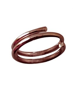 Brass double ring 6mmx50 ant. copperpl