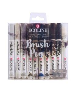 Talens Ecoline Brushpen Set 10st Greys