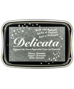 Tsukineko Delicata stamp ink, Silver