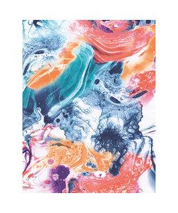 Vel Decopatch papier Marmer gekleurd