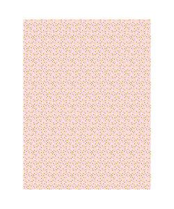 Vel Decopatch papier Stippen roze/geel/goud/wit