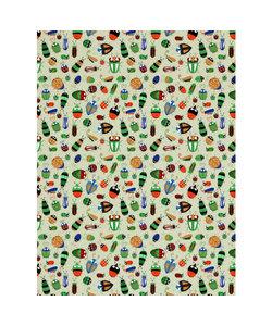 Vel Decopatch Papier Insecten Licht Grijs/Oranje/Bruin/Groen