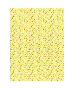 Vel Decopatch papier Stippen beige/wit/roze/mint