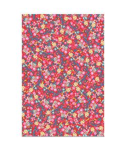 Vel Decopatch papier Bloemenprint rood/roze/blauw/geel