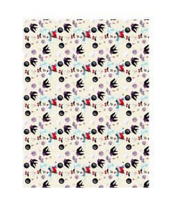 Vel Decopatch papier Patroon vogel/bal/anker  wit/rood/grijs/blauw