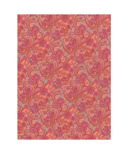 Vel Decopatch papier Bloemenprint oranje/roze