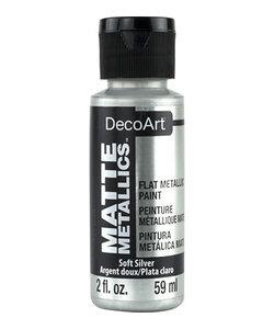 DecoArt Matte Metallic 59ml Soft Silver