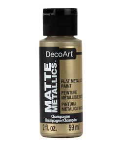 DecoArt Matte Metallic 59ml Champagne
