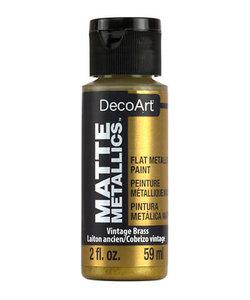 DecoArt Matte Metallic 59ml Vintage Brass