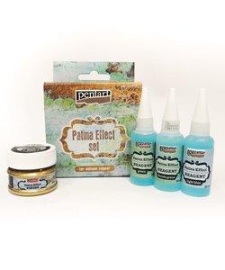 Pentart Pattina Effect set 3x20ml 1x20gr