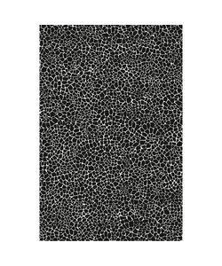 Vel Decopatch papier Craquelé grof zwart/wit