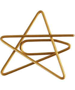 Metal Paperclips Star Gold afm. 30x30mm 6 st