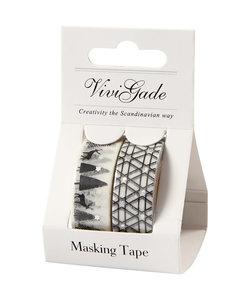 Vivi Gade Washi tape Black Coll., 2 pc