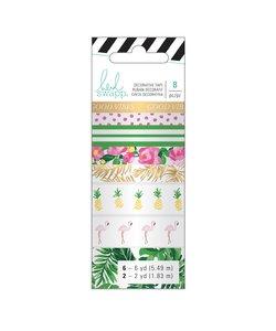 Heidi Swapp Washi Tape Set Tropical 8st