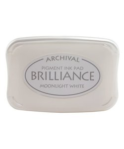 Archival Ink Pad Brilliance Moonlight White