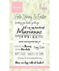 Marianne Design Stempel Marleen Hello Spring & Easter