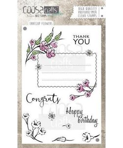 COOSA Crafts Stempel Envelope Flowers