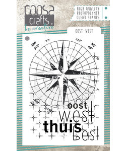 COOSA Crafts Stempel Oost-West