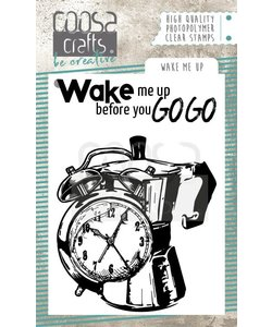 COOSA Crafts Stempel Wake Me Up