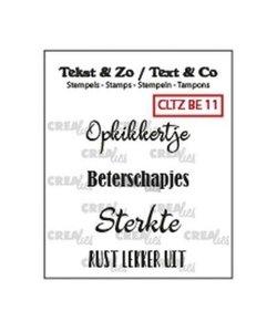 Crealies Stempel Tekst & Zo Beterschap 11