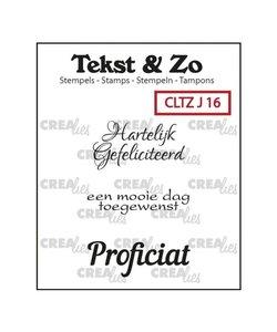 Crealies Stempel Tekst & Zo Jarig 16