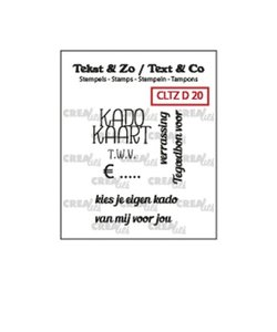 Crealies Stempel Tekst & Zo Tekst Kadokaart NL