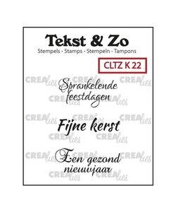 Crealies Stempel Tekst & Zo Tekst Kerst nr. 22