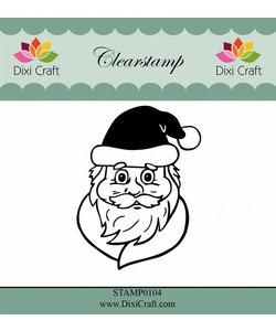 Dixi Craft clear stamp Kerstman hoofd