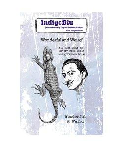 Indigo Blu rbb stamp A6 Wonderful and Weird
