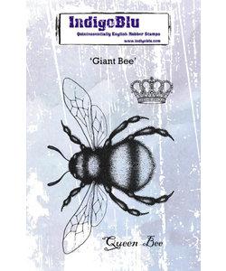 Indigo Blu rbbr stamp A6 Giant Bee