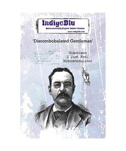 Indigo Blu rbr stamp A6 Discombobulated Gentleman