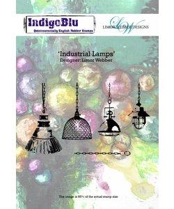 Indigo blu rbr stamp Industrial Lamps
