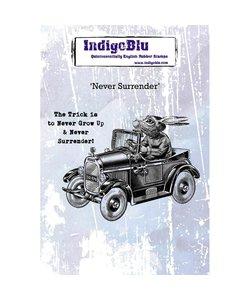 Indigo Blu rbr stempel A6 Never Surrender