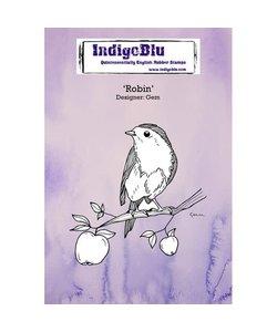IndigoBlu rubber stamp Robin vogel