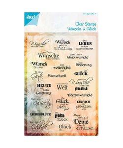 Joy Clear stamp Tekst Duits Wünsche