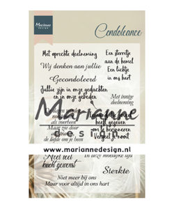 Marianne Design Clear Stamp Condoleance