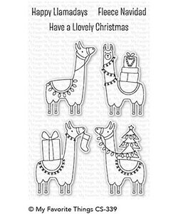 My Favorite Things Clear Stamp Happy Llamadays