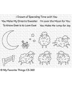 My Favorite Things Clear Stamp Over the moon for